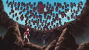 Jutsu Secreto Rojo Aparición de las Cien Marionetas Anime