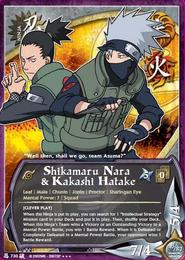 Shikamaru y Kakashi BP