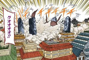 Elemento Rayo Prisión de Cuatro Pilares Manga