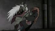 Jiraiya golpea al Camino Humano