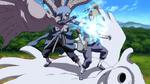 Sasuke atraviesa a Deidara