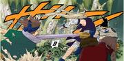 Time 10 aparece para proteger Sakura (Mangá Colorido)