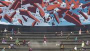 Sakura salva a los espectadores durante el ataque de Momoshiki