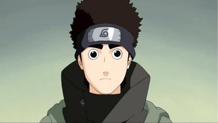 Shino con ojos de Rock Lee