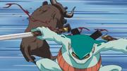 Gamahiro contra o Boi Gigante