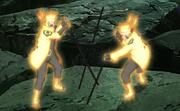 Naruto contendo a sombra de Madara
