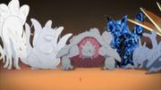 Naruto se enconta com os Bijus