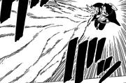 Kawaki alargando su brazo derecho