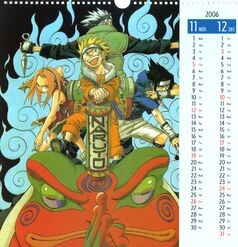 Naruto Calendario 2006 Noviembre-Diciembre Versión A