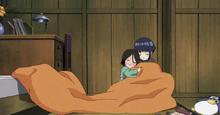 Hanabi y Hinata en su infancia