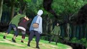 Mitsuki junto com Shikadai e Boruto enfrentam Shino