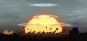 Los ataques de Naruto y Sasuke Explotan