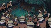 Naruto haciendo por primera vez el Jutsu Multiclones de Sombras