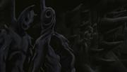 Cascarones de Zetsus junto al Clon de Hashirama