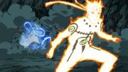 Naruto esquiva el golpe de A