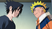 Naruto y Sasuke se disponen a pelear
