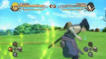 Minato throws his kunai…