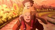 Hima e Naruto brincando