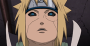 Minato siente el Chakra de Naruto y Kurama