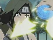 O Rasengan quebra a Raijin no Ken