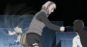 Sakura intenta destruir el Rinnegan de Obito