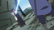 Sasuke acerta Karin e Danzo