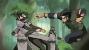 Asuma lutando contra os ninjas de Oto