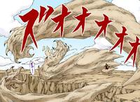 Braço Monstruoso de Areia (Mangá Colorido)