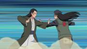 Hiashi fights Hizashi