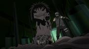 Kakashi lucha con la serpiente gigante