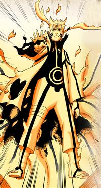 Modo de Chakra de Naruto (Mangá Colorido)