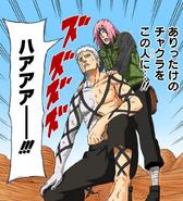 Sakura envolve Obito com seu selo