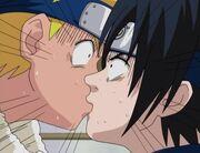 1х003 Саскэ Наруто поцелуй