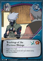 Teaching of the Previous Hokage