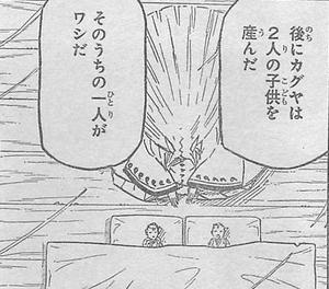 Kaguya junto a sus dos hijos