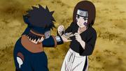Rin preocupándose por Obito