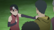 Sarada releases genjutsu