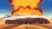 Deidara explode o esconderijo de Orochimaru