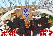 Akatsuki faz seu movimento (Mangá Colorido)