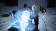 Kakashi e Obito se perfuram