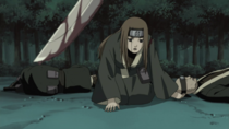 Miru about to be killed by Kisame