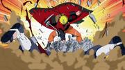 Naruto intercepta el ataque del Camino Asura
