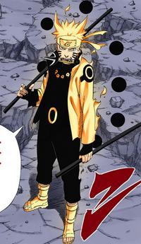 Bastão dos Seis Caminhos Naruto Mangá