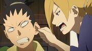 Shikadai se fait disputer par Temari