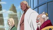 Tsunade, A y Ōnoki aseguran la victoria sobre Akatsuki