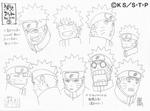 Diseño de Naruto Facciones II por Pierrot
