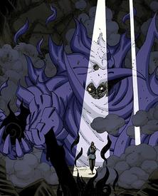 El Susanoo de Sasuke después de adquirir el Mangekyō Sharingan Eterno