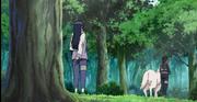 Kiba, Akamaru e Hinata na árvore de marcações de recordes