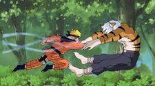Mizuki colpito dal rasengan