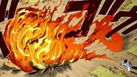 Sasuke atacando Kakashi